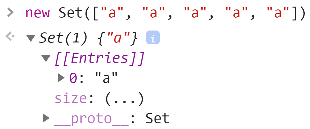 Набор из строк - JavaScript