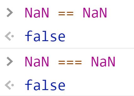 NaN всегда не равен NaN - JavaScript