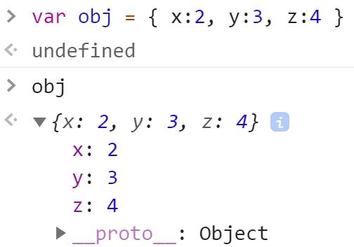 Объект 3 свойства - JavaScript