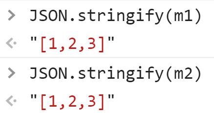 Одинаковые строки после JSON преобразования - JavaScript