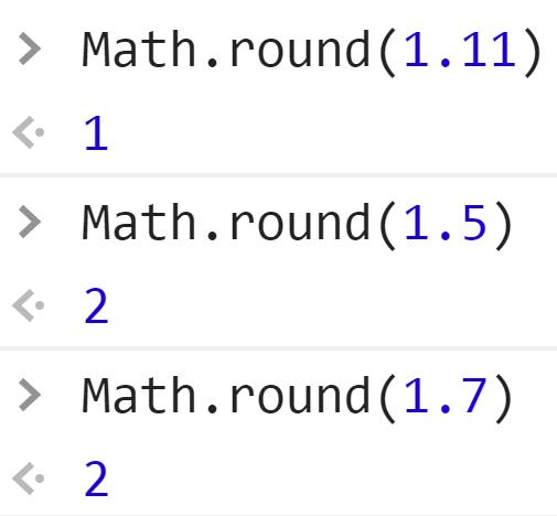 Округлили дробное до ближайшего целого - JavaScript