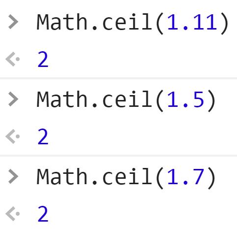 Округлили дробное до наибольшего целого - JavaScript
