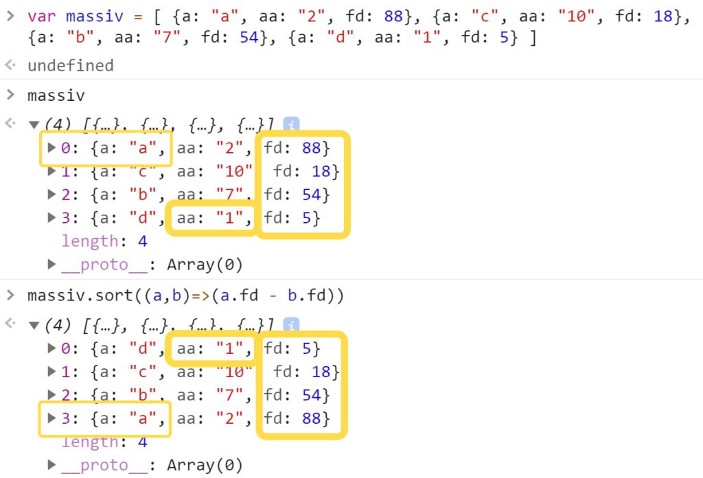 Отсортировали массив из объектов - JavaScript