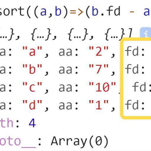 Отсортировали массив из объектов по убыванию - JavaScript