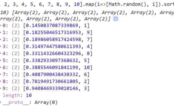 Отсортировали пары по первому элементу - JavaScript