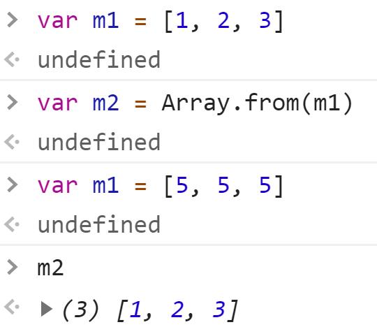 Передача массива в Array,from - JavaScript