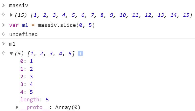 Получение первых пяти элементов массива - JavaScript