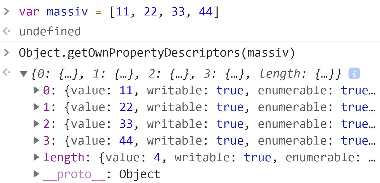 Получили собственные свойства массива - JavaScript