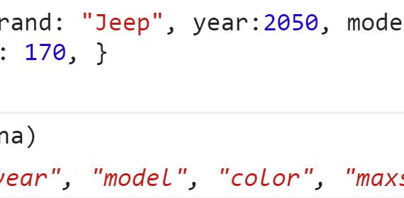 Получили все ключи объекта - JavaScript