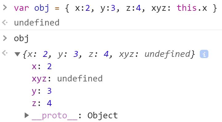 Попытка обратиться к другому значению внутри одного объекта - JavaScript