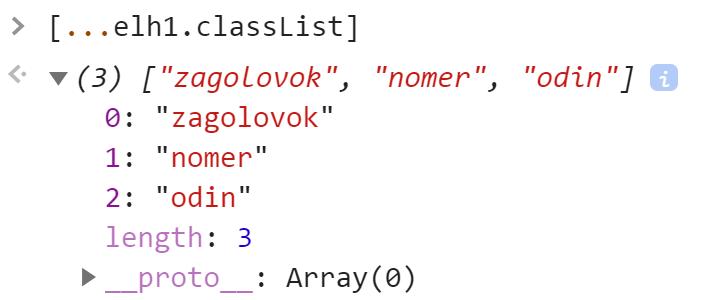 Преобразовали DOMTokenList в Array - JavaScript