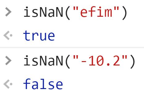 Пример работы isNaN - true и false - JavaScript
