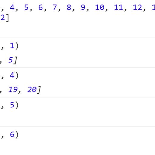 Пример работы своего метода getRangePart - JavaScript