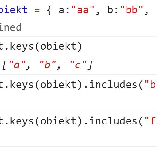 Проверили наличие ключей в объекте - JavaScript