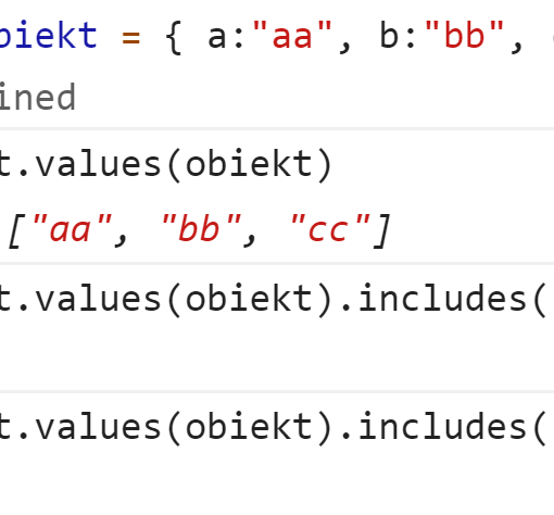Проверили наличие значений в объекте - JavaScript