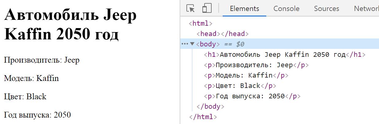 Разметка в документе - HTML