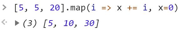 Сделали массив из сумм элементов оригинального - JavaScript