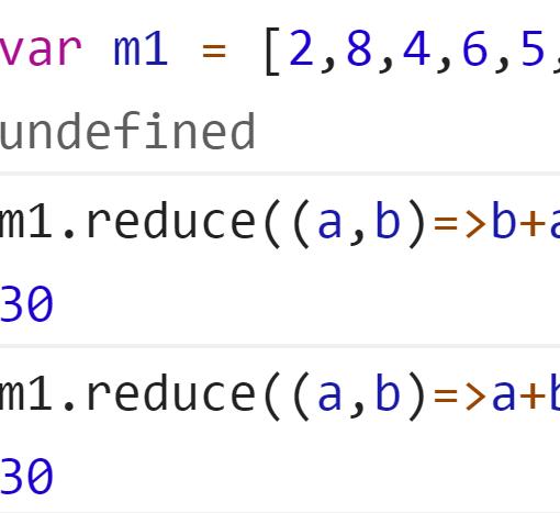 Сложение всех чисел элементов массива методом reduce - JavaScript