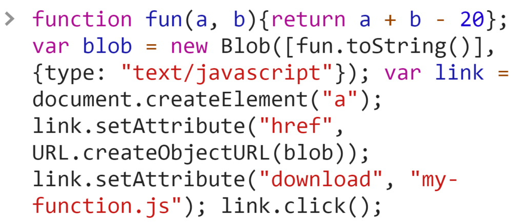 Сохранение функции в файл - JavaScript