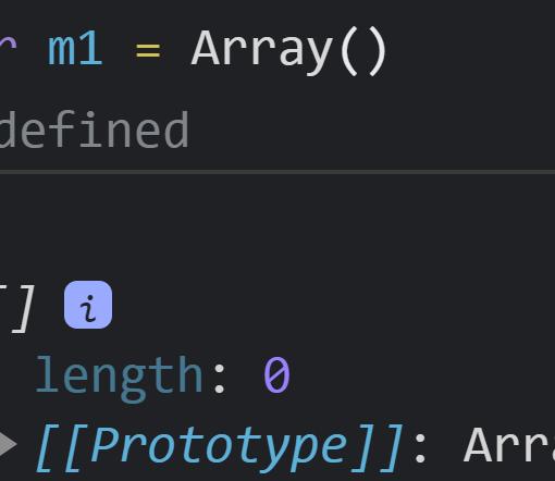 Создали пустой массив при помощи конструктора класса Array - JavaScript