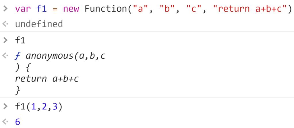 Создание функции1 через конструктор - JavaScript