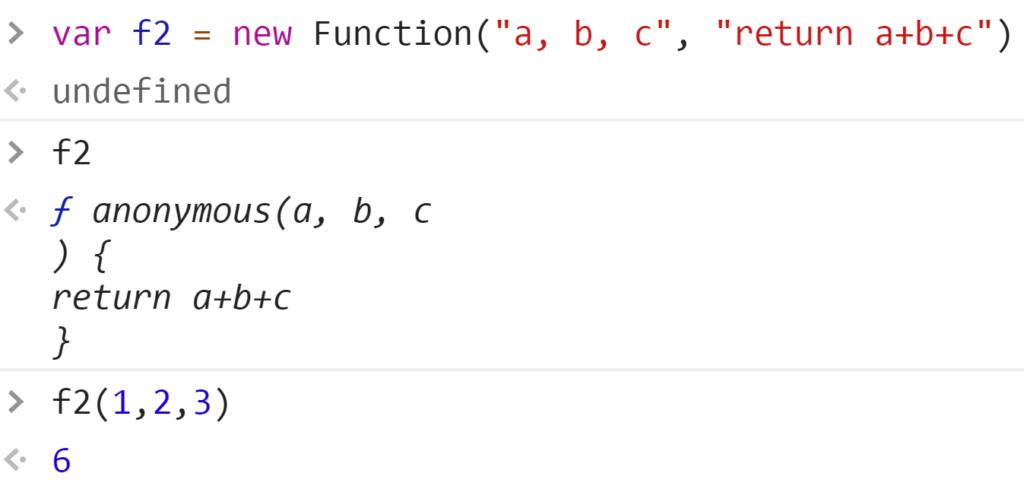 Создание функции2 через конструктор - JavaScript