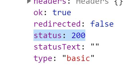 Статус 200 в прототипе объекта Response - JavaScript