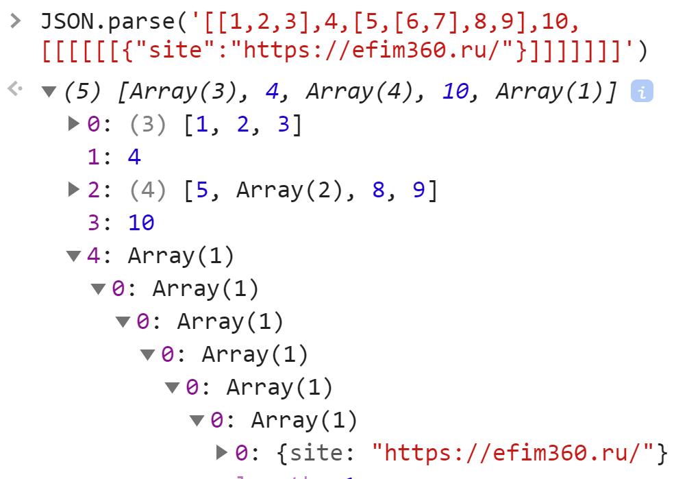 Строка снова стала глубоким массивом - JavaScript