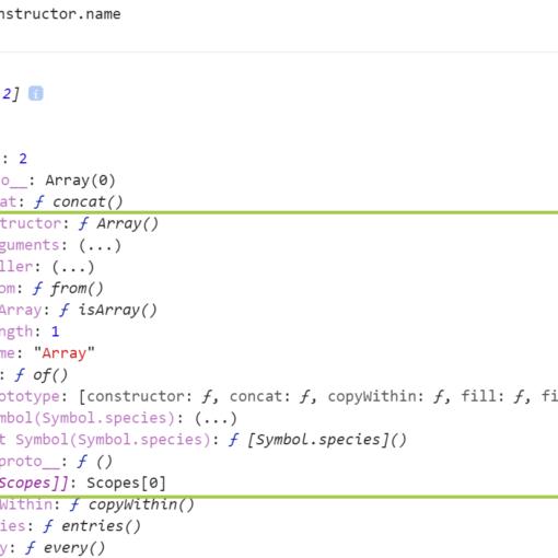 Свойства метода constructor для Array - JavaScript