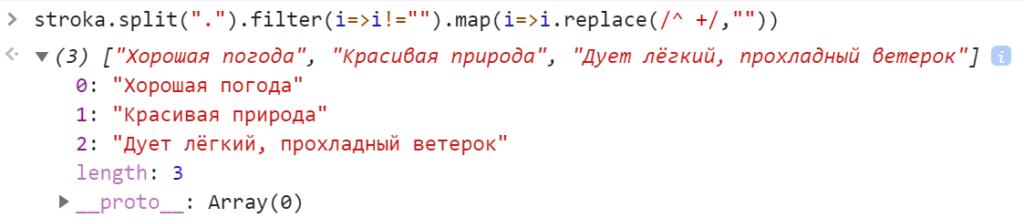 Удалили пробелы в начале строк - JavaScript