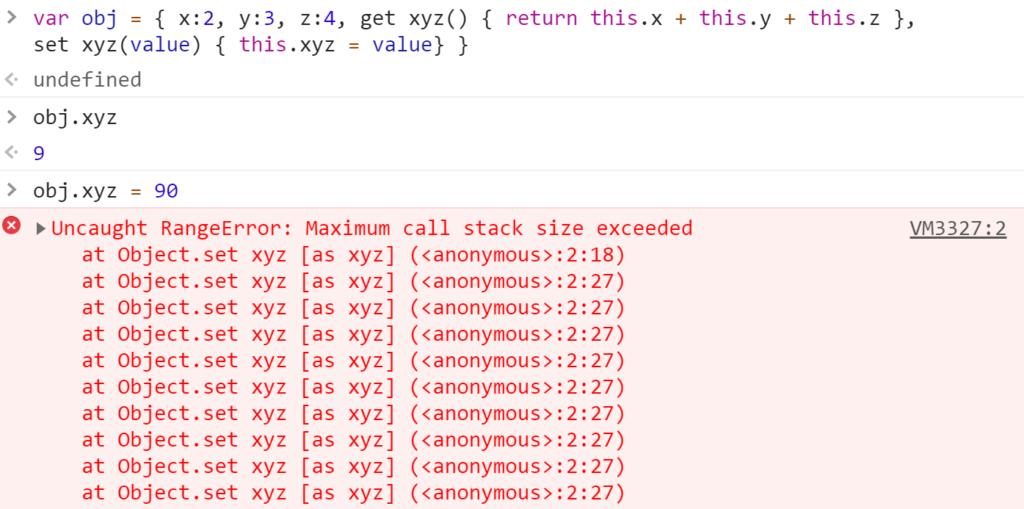 Uncaught RangeError- Maximum call stack size exceeded - JavaScript