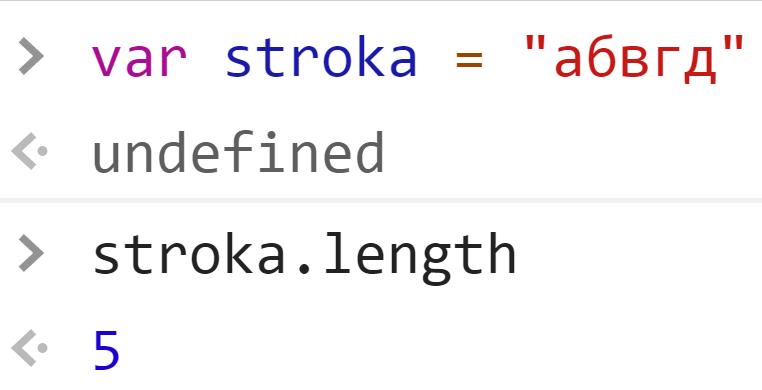 Узнали длину строки - JavaScript