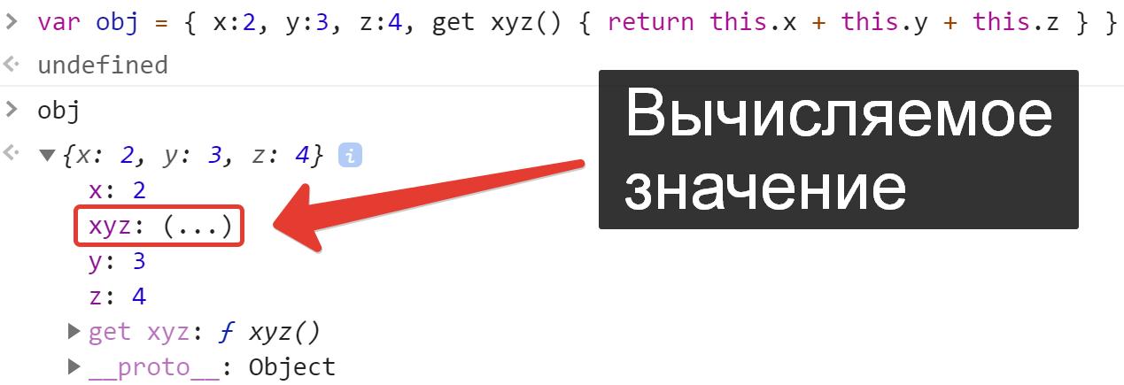 Вычисляемое значение в объекте - JavaScript