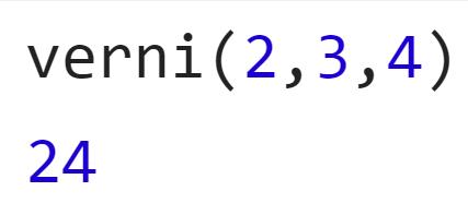 Вызов функции verni - JavaScript